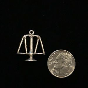 Sterling Scale Charm